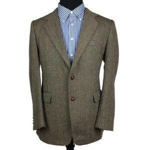 Joe Namath Brown Herringbone Blazer Sport Coat
